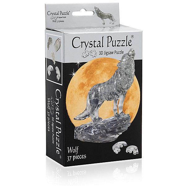 3D головоломка Черный Волк3D пазлы<br>Характеристики:<br><br>• возраст: от 12 лет;<br>• материал: пластик;<br>• в комплекте: 37 деталей, инструкция;<br>• сложность: 3;<br>• вес упаковки: 165 гр.;<br>• размер упаковки: 17,3х9,5х5 см;<br>• страна производитель: Китай.<br><br>3D головоломка «Черный Волк» Crystal Puzzle в готовом виде изображает фигуру хищника на скале. Объемный пазл выглядит стильно, похоже, что фигура сделана изо льда. Такой волк бесподобно украсит интерьер и не останется без внимания гостей дома.<br><br>Собрать головоломку можно с помощью подбора элементов по форме и размерам или обратиться к инструкции, что облегчит задачу. Сборка объемного пазла развивает пространственное мышление и логику, а также ловкость рук. Игра выполнена из безопасного пластика.<br><br>3D головоломку «Черный Волк» можно купить в нашем интернет-магазине.<br>Ширина мм: 173; Глубина мм: 95; Высота мм: 50; Вес г: 165; Возраст от месяцев: 144; Возраст до месяцев: 2147483647; Пол: Унисекс; Возраст: Детский; SKU: 7378701;