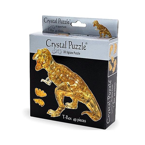 Головоломка Динозавр T-Rex3D пазлы<br>Характеристики:<br><br>• возраст: от 12 лет;<br>• материал: пластик;<br>• в комплекте: 49 деталей, инструкция;<br>• сложность: 4;<br>• высота готовой фигуры: 14 см;<br>• вес упаковки: 208 гр.;<br>• размер упаковки: 17,5х14х4,5 см;<br>• страна производитель: Китай.<br><br>3D головоломка «Динозавр T-Rex» Crystal Puzzle — находка для любителей загадок и древних животных. Готовая фигура буквально выглядит кристальной и красиво переливается на свету. Динозавр станет отличным украшением интерьера и пополнит коллекцию кристальных пазлов.<br><br>Собрать головоломку можно с помощью подбора элементов по форме и размерам или обратиться к инструкции, что облегчит задачу. Сборка объемного пазла развивает пространственное мышление и логику, а также ловкость рук. Игра выполнена из безопасного пластика.<br><br>3D головоломку «Динозавр T-Rex» можно купить в нашем интернет-магазине.<br>Ширина мм: 175; Глубина мм: 140; Высота мм: 45; Вес г: 208; Возраст от месяцев: 144; Возраст до месяцев: 2147483647; Пол: Унисекс; Возраст: Детский; SKU: 7378707;
