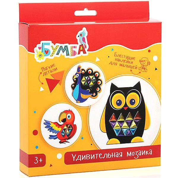 Удивительная мозаика с фольгированными наклейками ПтичкиМозаика детская<br>Характеристики:<br><br>• возраст: от 3 лет;<br>• материал: бумага, картон;<br>• в комплекте: основа для мозаики с персонажами 3 шт., лист с цветными наклейками из фольги;<br>• вес упаковки: 128 гр.;<br>• размер упаковки: 23х20х3,5 см;<br>• страна производитель: Россия.<br><br>Мозаика с фольгированными наклейками «Птички» от «Бумбарам» позволит малышу преобразить ярких персонажей по собственному желанию. Все, что для этого нужно — взять основу с птичкой и наклеить на нее цветные переливающиеся наклейки.<br><br>Готовый результат зависит только от фантазии ребенка. Картинки станут замечательным украшением детской комнаты или послужат трогательным подарком близким.<br><br>Занятия с мозаикой развивают воображение и творческое мышление. Кроха придет восторг от возможности сделать все самому!<br><br>Удивительную мозаику с фольгированными наклейками «Птички» можно купить в нашем интернет-магазине.<br>Ширина мм: 230; Глубина мм: 200; Высота мм: 35; Вес г: 128; Возраст от месяцев: 36; Возраст до месяцев: 2147483647; Пол: Унисекс; Возраст: Детский; SKU: 7378712;