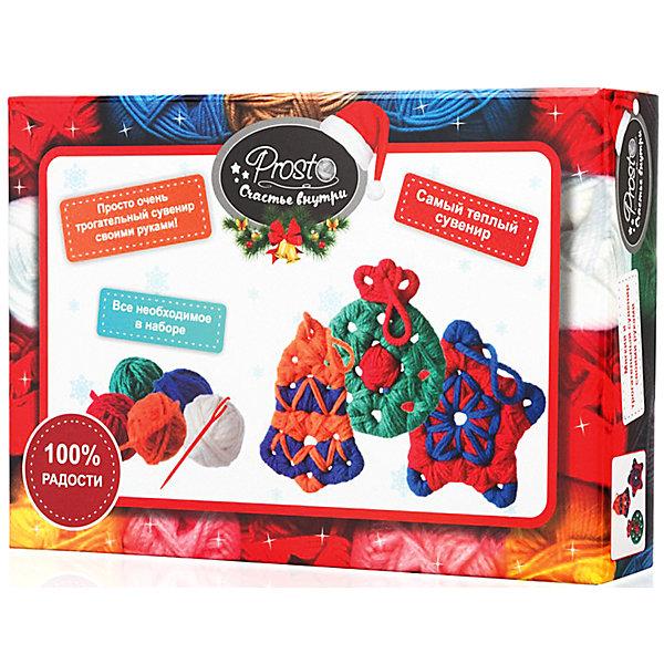 Набор для создания сувенира Игрушки на елкуШитьё<br>Характеристики:<br><br>• возраст: от 14 лет;<br>• материал: дерево, шерсть, нить;<br>• в комплекте: 3 фигурки из дерева, пряжа пяти цветов (50% шерсть, 50% акрил), безопасная пластиковая игла;<br>• размер сувенира: 10х11 см;<br>• вес упаковки: 150 гр.;<br>• размер упаковки: 24,5х17х5 см;<br>• страна производитель: Россия.<br><br>Набор для создания сувенира «Игрушки на елку» от «Бамбарам» перенесет в увлекательный мир рукоделия и подарков. С помощью иглы и шерстяных ниток можно обвить деревянные заготовки и получить настоящее праздничное украшение, которое можно оставить себе или подарить близким.<br><br>Чтобы использовать набор, не обязательно уметь шить или вязать. На деле все просто! Можно импровизировать, сочетать разные цвета и делать движения иглой по отверстиям в произвольном порядке. В итоге все равно получится красивый и уютный сувенир. Кроме того, занятия рукоделием улучшают настроение и развивают творческие способности.<br><br>Набор для создания сувенира «Игрушки на елку» можно купить в нашем интернет-магазине.<br>Ширина мм: 245; Глубина мм: 170; Высота мм: 50; Вес г: 150; Возраст от месяцев: 168; Возраст до месяцев: 2147483647; Пол: Унисекс; Возраст: Детский; SKU: 7378714;