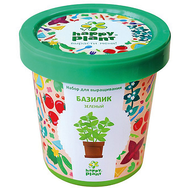 Набор для выращивания Базилик зеленыйВыращивание растений<br>Характеристики:<br><br>• возраст: от 3 лет;<br>• в комплекте: горшок, плодородный грунт, керамзит, семена, инструкция;<br>• объем: 500 мл;<br>• вес упаковки: 240 гр.;<br>• размер упаковки: 10х10х7 см;<br>• страна производитель: Россия.<br><br>Наборы для выращивания Happy Plant помогут освоить азы садоводства тем, кто совсем не знаком с этой деятельностью. А также станут отличным подарком для тех, кто любит растить зелень.<br><br>В наборе есть все необходимое, чтобы посадить и вырастить ароматный базилик. Сама упаковка станет горшочком, а крышка — подставкой. С помощью инструкции на русском языке посев будет простым и увлекательным занятием! Выращивание повышает чувство ответственности и улучшает настроение, особенно когда появляются первые результаты.<br><br>Набор для выращивания «Базилик зеленый» можно купить в нашем интернет-магазине.<br>Ширина мм: 100; Глубина мм: 100; Высота мм: 70; Вес г: 240; Возраст от месяцев: 36; Возраст до месяцев: 2147483647; Пол: Унисекс; Возраст: Детский; SKU: 7378729;