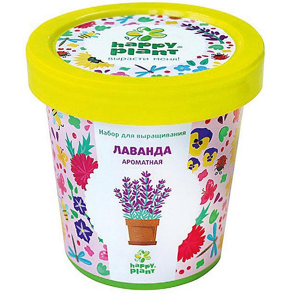 Набор для выращивания Лаванда ароматнаяВыращивание растений<br>Характеристики:<br><br>• возраст: от 3 лет;<br>• в комплекте: горшок, плодородный грунт, керамзит, семена, инструкция;<br>• объем: 500 мл;<br>• вес упаковки: 240 гр.;<br>• размер упаковки: 10х10х7 см;<br>• страна производитель: Россия.<br><br>Наборы для выращивания Happy Plant помогут освоить азы садоводства тем, кто совсем не знаком с этой деятельностью. А также станут отличным подарком для тех, кто любит цветущие растения.<br><br>В наборе есть все необходимое, чтобы посадить и вырастить лаванду ароматную. Сама упаковка станет горшочком, а крышка — подставкой. С помощью инструкции на русском языке посев будет простым и увлекательным занятием! Выращивание повышает чувство ответственности и улучшает настроение, особенно когда появляются первые результаты.<br><br>Набор для выращивания «Лаванда ароматная» можно купить в нашем интернет-магазине.<br>Ширина мм: 100; Глубина мм: 100; Высота мм: 70; Вес г: 240; Возраст от месяцев: 36; Возраст до месяцев: 2147483647; Пол: Унисекс; Возраст: Детский; SKU: 7378730;