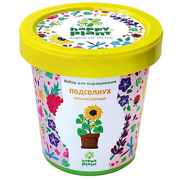 Набор для выращивания Подсолнух миниатюрныйВыращивание растений<br>Характеристики:<br><br>• возраст: от 3 лет;<br>• в комплекте: горшок, плодородный грунт, керамзит, семена, инструкция;<br>• объем: 500 мл;<br>• вес упаковки: 240 гр.;<br>• размер упаковки: 10х10х7 см;<br>• страна производитель: Россия.<br><br>Наборы для выращивания Happy Plant помогут освоить азы садоводства тем, кто совсем не знаком с этой деятельностью. А также станут отличным подарком для тех, кто любит цветущие растения.<br><br>В наборе есть все необходимое, чтобы посадить и вырастить миниатюрный подсолнух. Сама упаковка станет горшочком, а крышка — подставкой. С помощью инструкции на русском языке посев будет простым и увлекательным занятием! Выращивание повышает чувство ответственности и улучшает настроение, особенно когда появляются первые результаты.<br><br>Набор для выращивания «Подсолнух миниатюрный» можно купить в нашем интернет-магазине.<br>Ширина мм: 100; Глубина мм: 100; Высота мм: 70; Вес г: 240; Возраст от месяцев: 36; Возраст до месяцев: 2147483647; Пол: Унисекс; Возраст: Детский; SKU: 7378731;