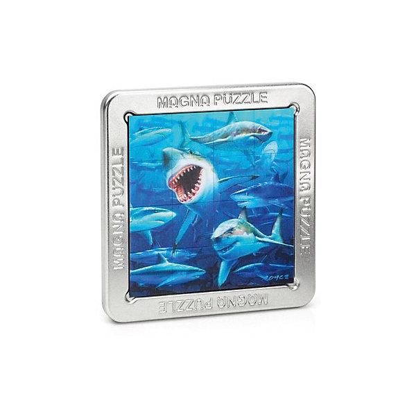 3D Magna пазл Акулы3D пазлы<br>Характеристики:<br><br>• возраст: от 8 лет;<br>• материал: металл;<br>• в комплекте: 16 деталей, металлическая коробка, инструкция;<br>• вес упаковки: 200 гр.;<br>• размер упаковки: 14,5х14,5х18 см;<br>• страна производитель: Великобритания.<br><br>Яркое красочное изображение, которое нужно собрать собственными руками! Собранный 3D Magna пазл «Акулы» от Cheatwell станет прекрасным дополнением к интерьеру и заворожит взгляды гостей дома.<br><br>Составить пазл не так просто, как может показаться вначале. Каждая деталь отражает объемное изображение, которое меняется под разным углом обзора. Чтобы соединить картинку воедино, понадобится вся внимательность. Облегчит задачу металлическая коробка, на которую и сложатся магнитные части головоломки.<br><br>Игра порадует любителей необычных вещей, улучшит концентрацию, внимание и ловкость рук.<br><br>3D Magna пазл «Акулы» можно купить в нашем интернет-магазине.<br><br>Ширина мм: 145<br>Глубина мм: 145<br>Высота мм: 180<br>Вес г: 200<br>Возраст от месяцев: 96<br>Возраст до месяцев: 2147483647<br>Пол: Унисекс<br>Возраст: Детский<br>SKU: 7378736