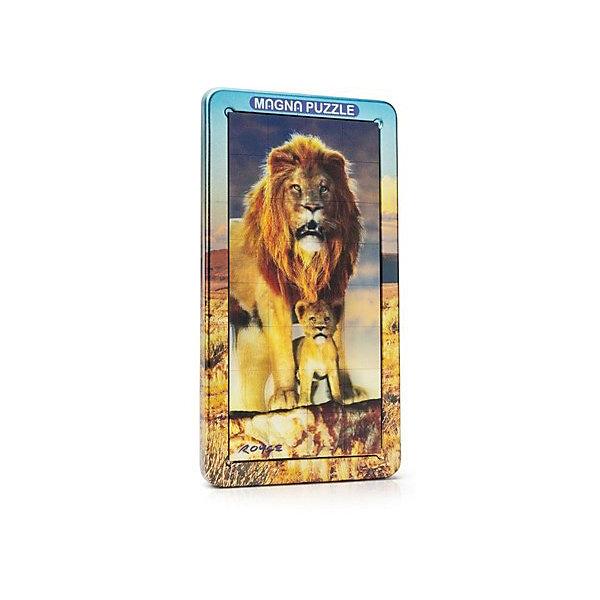 3D Magna пазл портрет Лев3D пазлы<br>Характеристики:<br><br>• возраст: от 8 лет;<br>• материал: металл;<br>• в комплекте: 32 детали, металлическая коробка;<br>• вес упаковки: 331 гр.;<br>• размер упаковки: 25,5х14,5х18 см;<br>• страна производитель: Великобритания.<br><br>Красочная стереокартинка с диким животным обманывает зрение! Собранный 3D Magna пазл портрет «Лев» от Cheatwell станет прекрасным дополнением к интерьеру и заворожит взгляды гостей дома.<br><br>Составить пазл не так просто, как может показаться вначале. Каждая деталь отражает объемное изображение, которое меняется под разным углом обзора. Чтобы соединить картинку воедино, понадобится вся внимательность. Облегчит задачу металлическая коробка, на которую и сложатся магнитные части головоломки.<br><br>Игра порадует любителей необычных вещей, улучшит концентрацию, внимание и ловкость рук.<br><br>3D Magna пазл портрет «Лев» можно купить в нашем интернет-магазине.<br><br>Ширина мм: 255<br>Глубина мм: 145<br>Высота мм: 180<br>Вес г: 331<br>Возраст от месяцев: 96<br>Возраст до месяцев: 2147483647<br>Пол: Унисекс<br>Возраст: Детский<br>SKU: 7378740