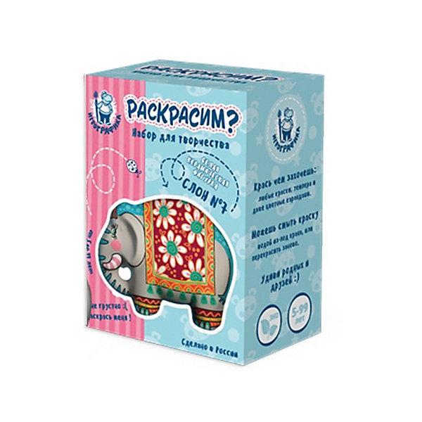 Керамическая фигурка-раскраска СлонНаборы для росписи<br>Характеристики:<br><br>• возраст: от 5 лет;<br>• материал: керамика;<br>• в комплекте: белая керамическая фигурка, кисточка, краски 6 цветов;<br>• вес упаковки: 350 гр.;<br>• размер упаковки: 14,5х19х9 см;<br>• страна производитель: Россия.<br><br>Керамическая фигурка-раскраска «Слон» — находка для развития творческих способностей ребенка и интересного времяпровождения. Перед малышом стоит задача раскрасить фигурку на свой вкус. <br><br>В процессе занятия можно комбинировать цвета, наносить краски разными слоями, смешивать их, и даже использовать любые другие красящие предметы: карандаши, фломастеры, мелки. Поверхность фигурки принимает любой краситель. При желании ее можно помыть и заново раскрасить удобной кисточкой из набора.<br><br>Материалы совершенно безопасны для ребенка. Готовая фигурка станет памятным сувениром из детства или подарком для близких.<br><br>Керамическую фигурку-раскраску «Слон» можно купить в нашем интернет-магазине.<br>Ширина мм: 145; Глубина мм: 190; Высота мм: 90; Вес г: 350; Возраст от месяцев: 60; Возраст до месяцев: 2147483647; Пол: Унисекс; Возраст: Детский; SKU: 7378752;