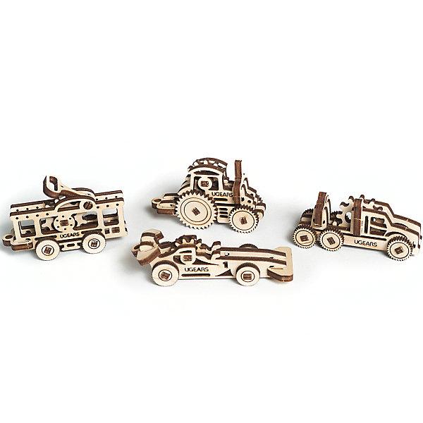 Конструктор 3D-пазл Ugears - Фиджет ТранспортДеревянные модели<br>Характеристики товара:<br><br>• в комплекте: трамвай, трактор, грузовик, спортивная машина;<br>• количество деталей: 62;<br>• возраст: от 5 лет;<br>• материал: фанера;<br>• время сборки: 10 минут;<br>• размер модели: 2х4х8 см;<br>• размер упаковки: 10х7,5х1,6 см;<br>• страна бренда: Украина.<br><br>Набор «Фиджет Транспорт» состоит из 62 деталей, из которых можно собрать 4 фигурки с базовыми элементами механики: грузовик, трамвай, спортивная машина, трактор. Готовые фигурки можно использовать в качестве брелоков, игрушек для снятия стресса или сувениров. Примерное время сборки - 10 минут. Все элементы собираются без клея и инструментов. Детали конструктора изготвлены из экологически чистой древесины.<br><br>Конструктор 3D-пазл Ugears (Югерс) - Фиджет Транспорт можно купить в нашем интернет-магазине.<br>Ширина мм: 100; Глубина мм: 75; Высота мм: 16; Вес г: 56; Возраст от месяцев: 168; Возраст до месяцев: 2147483647; Пол: Унисекс; Возраст: Детский; SKU: 7378824;