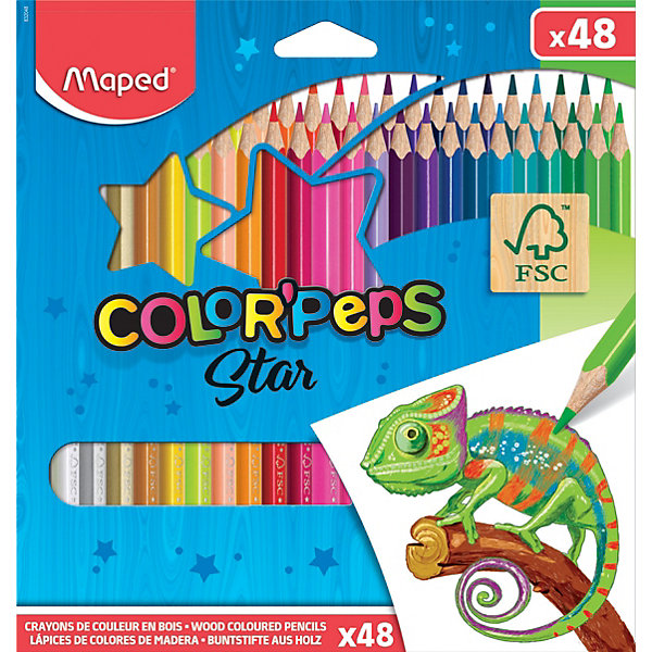 Карандаши цветные COLORPEPS, 48 цветов, MapedЦветные<br>Карандаши цветные серии COLORPEPS  из американской липы. Эргономичная треугольная форма, удобно держать в руках. Ударопрочный грифель - карандаши не сломаются! Набор в картонном футляре, 48 ярких и насыщенных цветов! Карандаши соответствуют действующим стандартам качества детских игрушек. Идеально для раскрашивания, рисования и скетчей.<br>Ширина мм: 19; Глубина мм: 192; Высота мм: 214; Вес г: 312; Возраст от месяцев: 36; Возраст до месяцев: 2147483647; Пол: Унисекс; Возраст: Детский; SKU: 7379373;