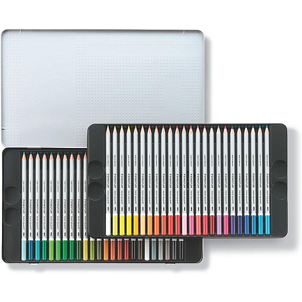 Карандаши цветные акварельные Karat Aquarell, 48 цветов, StaedtlerПисьменные принадлежности<br>Набор акварельных шестигранных карандашей 125 серии karat aquarell. 48 ярких цвета в металлической упаковке. Содержит 48 светостойких цветных акварельных карандашей. Исключительно гладкое, насыщенное цветом исполнение. Цвета отлично смешиваются. Ударопрочный грифель, диаметр - 3 мм. Широкий диапазон творческих эффектов: сухие, сухие по мокрому, мокрый по мокрому. Изготовлены из сертифицированной древесины.<br>Ширина мм: 190; Глубина мм: 324; Высота мм: 22; Вес г: 682; Возраст от месяцев: 60; Возраст до месяцев: 2147483647; Пол: Унисекс; Возраст: Детский; SKU: 7379395;