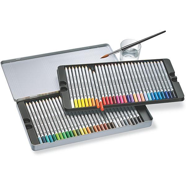 Карандаши цветные акварельные Karat Aquarell, 60 цветов, StaedtlerПисьменные принадлежности<br>Набор акварельных шестигранных карандашей 125 серии karat aquarell. 60 ярких цветов в металлической упаковке. Содержит 60 светостойких цветных акварельных карандашей. Исключительно гладкое, насыщенное цветом исполнение. Цвета отлично смешиваются. Ударопрочный грифель, диаметр - 3 мм. Широкий диапазон творческих эффектов: сухие, сухие по мокрому, мокрый по мокрому. Изготовлены из сертифицированной древесины.<br>Ширина мм: 190; Глубина мм: 324; Высота мм: 22; Вес г: 744; Возраст от месяцев: 60; Возраст до месяцев: 2147483647; Пол: Унисекс; Возраст: Детский; SKU: 7379396;