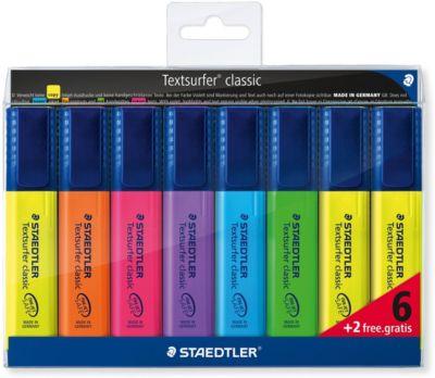 Набор маркеров-текстовыделителей Classic, 8 цветов, 1-5 мм, Staedtler, артикул:7379407 - Канцтовары