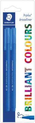 Набор капиллярных ручек Triplus, 2 шт., цвет синий, 0,8 мм, Staedtler