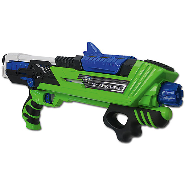 Водный бластер Zing Hydro Force Side SharkfireВодяные пистолеты<br>Характеристики:<br><br>• возраст: от 5 лет<br>• объем резервуара: 480 мл.<br>• дальность «выстрела»: 9 м.<br>• материал: пластик<br>• упаковка: картонная коробка открытого типа<br>• размер упаковки: 46х26х8,5 см.<br>• вес: 1,315 кг.<br><br>Гидрофорс водное оружие Sharkfire - это мощное оружие имеет резервуар для воды объемом 480 мл, дальность выстрела может достигать 9 метров.<br><br>Оружие легко перезаряжается, стреляет водой в двух режимах – струёй или распылением, подкачка воды из резервуара осуществляется по принципу насоса.<br><br>Оружие оснащено удобной эргономичной рукояткой, полностью герметично, изготовлено из легкого прочного пластика.<br><br>Игрушку водное оружие Zing, Hydro Force Sharkfire можно купить в нашем интернет-магазине.<br>Ширина мм: 85; Глубина мм: 480; Высота мм: 265; Вес г: 1315; Возраст от месяцев: 60; Возраст до месяцев: 2147483647; Пол: Мужской; Возраст: Детский; SKU: 7379679;