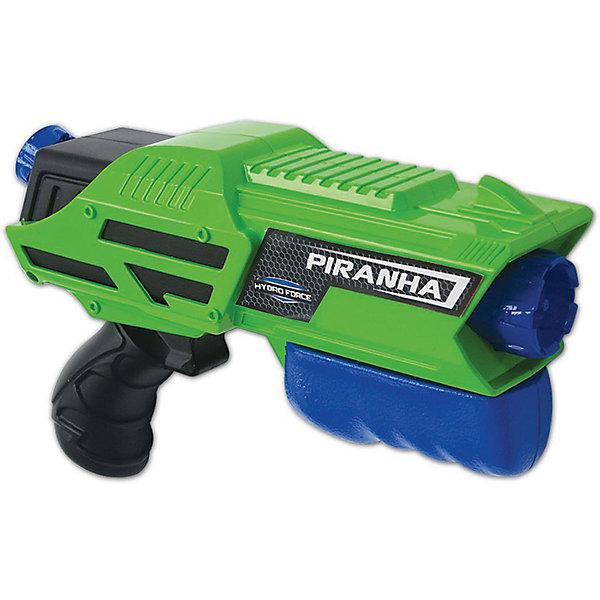 Водный бластер Zing Hydro Force PiranhaВодяные пистолеты<br>Характеристики:<br><br>• возраст: от 5 лет<br>• объем резервуара: 220 мл.<br>• дальность «выстрела»: 8 м.<br>• материал: пластик<br>• упаковка: картонная коробка открытого типа<br>• размер упаковки: 28,5х19х8,5 см.<br>• вес: 387 гр.<br><br>Гидрофорс водное оружие Piranha - это небольшое, но дальнострельное оружие имеет резервуар для воды объемом 220 мл, дальность выстрела может достигать 8 метров.<br><br>Оружие легко перезаряжается, подкачка воды из резервуара осуществляется по принципу насоса.<br><br>Оружие оснащено удобной эргономичной рукояткой, изготовлено из легкого прочного пластика.<br><br>Игрушку водное оружие Zing, Hydro Force Piranha можно купить в нашем интернет-магазине.<br><br>Ширина мм: 85<br>Глубина мм: 285<br>Высота мм: 185<br>Вес г: 387<br>Возраст от месяцев: 60<br>Возраст до месяцев: 2147483647<br>Пол: Мужской<br>Возраст: Детский<br>SKU: 7379680