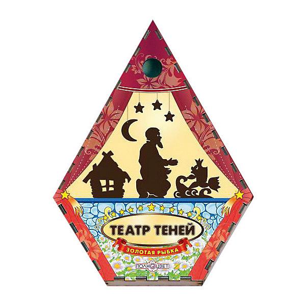 Театр теней Золотая рыбка цветнойКукольный театр<br>Характеристики:<br><br>• упаковка: плёнка.;<br>• размер упаковки: 22х17 х5см;<br>• состав: дерево, магнит;<br>• вес: 300г.;<br>• для детей в возрасте: от 3лет;<br>• страна производитель: Россия.<br><br>Настольная игра «Золотая рыбка» из серии «Театра теней» от компании специализирующейся на создании настольных игр бренда «Полноцвет» станет хорошим подарком для малышей и детей младшего школьного возраста. Она выполнена из высококачественных сортов фанеры и покрыта красками.  В комплект входят двенадцать фигурок персонажей сказки «Золотая рыбка». <br><br>Игра создана для детишек, только начинающих знакомство с театром. Удобная форма и небольшие размеры позволят ребёнку устраивать представления для друзей и родителей в любом месте.<br><br>Играя дети знакомятся с сюжетами русских народных сказок или самостоятельно придумывают разные истории. Любимые герои оживают на сцене, что вдохновляет ребёнка и позволяет развивать грамотность речи, память, воображение, мелкую моторику, а также весело провести время в компании.<br><br>Настольную игру «Золотая рыбка» из серии «Театра теней» можно приобрести в нашем интернет-магазине.<br>Ширина мм: 50; Глубина мм: 220; Высота мм: 170; Вес г: 300; Возраст от месяцев: 36; Возраст до месяцев: 84; Пол: Унисекс; Возраст: Детский; SKU: 7379837;