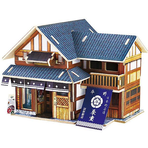 Сборная модель Robotime Японский чайный домик3D пазлы<br>Характеристики товара:<br><br>• возраст: от 3 лет;<br>• материал: дерево;<br>• в комплекте: 26 деталей, инструкция;<br>• размер упаковки: 23х2х1 см;<br>• вес упаковки: 260 гр.;<br>• страна производитель: Китай.<br><br>Сборная модель Robotime (Роботайм) Японский чайный домик -  это увлекательное хобби, в котором ребенок сможет не только сам собрать традиционный японский чайный домик, но и раскрасить темперными красками, попробовав себя в роли дизайнера. <br><br>Помимо творческого мышления, сборка поможет развить логику, внимательность и усидчивость.<br><br>Модель входит в серию «Дома разных стран» Robotime (Роботайм) с цветными деталями интерьера, Собрав всю серию ребенок познакомится с великолепной архетиктурой разных стран. <br><br>Детали для сборки расположены на трех листах шлифованной фанеры. Сборка не требует склеивания. Однако, при желании, для того чтобы усилить устойчивость, можно проклеивать места соединения.<br><br>Сборную модель Robotime (Роботайм) Японский чайный домик можно купить в нашем интернет-магазине.<br>Ширина мм: 230; Глубина мм: 18; Высота мм: 9; Вес г: 260; Возраст от месяцев: 72; Возраст до месяцев: 2147483647; Пол: Унисекс; Возраст: Детский; SKU: 7379861;