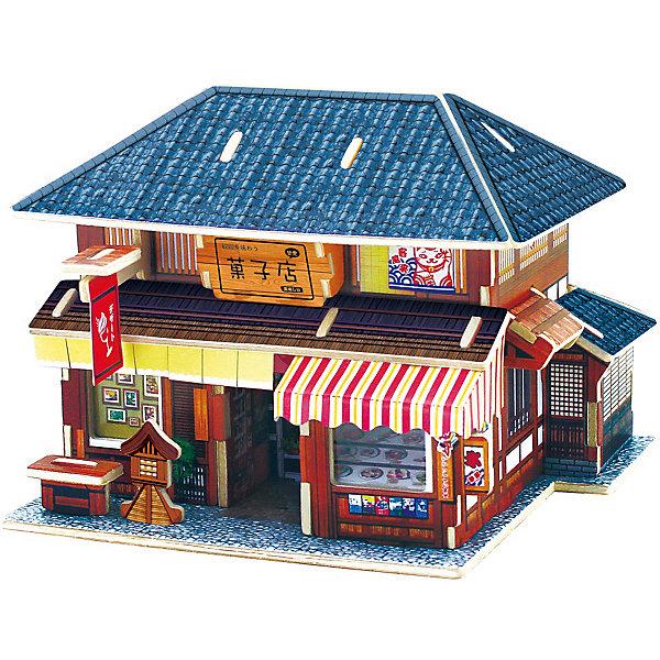 Сборная модель Robotime Японский десертный домик3D пазлы<br>Характеристики товара:<br><br>• возраст: от 3 лет;<br>• материал: дерево;<br>• в комплекте: 36 деталей, инструкция;<br>• размер упаковки: 23х2х1 см;<br>• вес упаковки: 230 гр.;<br>• страна производитель: Китай.<br><br>Сборная модель Robotime (Роботайм) Японский десертный домик -  это увлекательное хобби, в котором ребенок сможет не только сам собрать традиционный японский десертный домик , но и раскрасить темперными красками, попробовав себя в роли дизайнера. <br><br>Помимо творческого мышления, сборка поможет развить логику, внимательность и усидчивость.<br><br>Модель входит в серию «Дома разных стран» Robotime (Роботайм) с цветными деталями интерьера, Собрав всю серию ребенок познакомится с великолепной архетиктурой разных стран. <br><br>Детали для сборки расположены на трех листах шлифованной фанеры. Сборка не требует склеивания. Однако, при желании, для того чтобы усилить устойчивость, можно проклеивать места соединения.<br><br>Сборную модель Robotime (Роботайм) Японский десертный домик можно купить в нашем интернет-магазине.<br><br>Ширина мм: 230<br>Глубина мм: 18<br>Высота мм: 9<br>Вес г: 260<br>Возраст от месяцев: 72<br>Возраст до месяцев: 2147483647<br>Пол: Унисекс<br>Возраст: Детский<br>SKU: 7379863