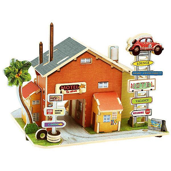 Сборная модель Robotime Американская авто гостиница3D пазлы<br>Характеристики товара:<br><br>• возраст: от 3 лет;<br>• материал: дерево;<br>• в комплекте: 52 детали, инструкция;<br>• размер упаковки: 23х2х1 см;<br>• вес упаковки: 370 гр.;<br>• страна производитель: Китай.<br><br>Сборная модель Robotime (Роботайм) Американская автогостиница -  это увлекательное хобби, в котором ребенок сможет не только сам собрать уютную американскую автогостиницу, но и раскрасить темперными красками, попробовав себя в роли дизайнера. <br><br>Помимо творческого мышления, сборка поможет развить логику, внимательность и усидчивость.<br><br>Модель входит в серию «Дома разных стран» Robotime (Роботайм) с цветными деталями интерьера, Собрав всю серию ребенок познакомится с великолепной архетиктурой разных стран. <br><br>Детали для сборки расположены на четырех листах шлифованной фанеры. Сборка не требует склеивания. Однако, при желании, для того чтобы усилить устойчивость, можно проклеивать места соединения.<br><br>Сборную модель Robotime (Роботайм) Американская автогостиница можно купить в нашем интернет-магазине.<br>Ширина мм: 230; Глубина мм: 18; Высота мм: 9; Вес г: 370; Возраст от месяцев: 72; Возраст до месяцев: 2147483647; Пол: Унисекс; Возраст: Детский; SKU: 7379868;