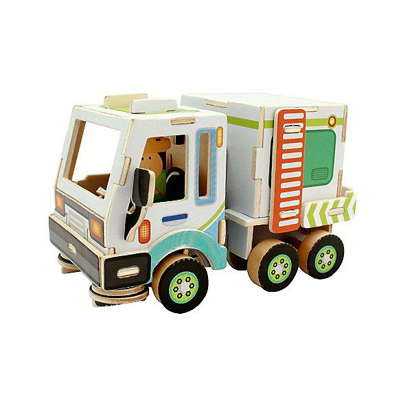Сборная модель Robotime Уборочная машина3D пазлы<br>Характеристики товара:<br><br>• возраст: от 3 лет;<br>• материал: дерево;<br>• в комплекте: 48 деталей, инструкция;<br>• размер упаковки: 30х22х1 см;<br>• вес упаковки: 420 гр.;<br>• страна производитель: Китай.<br><br>Сборная модель Robotime (Роботайм) Уборочная машина -  это занимательное хобби, в котором ребенок сможет не только сам собрать Уборочную машина, но и раскрасить темперными красками, попробовав себя в роли дизайнера. <br><br>Помимо творческого мышления, сборка поможет развить логику, внимательность и усидчивость.<br><br>Модель входит в серию «Строительная техника» Robotime (Роботайм) с бумажным покрытием. Собрав всю серию ребенок познакомится с детальными копиями настоящей строительной техники.<br> <br>Детали для сборки расположены на двух листах шлифованной фанеры. Сборка не требует склеивания. Однако, при желании, для того чтобы усилить устойчивость, можно проклеивать места соединения.<br><br>Сборную модель Robotime (Роботайм) Уборочная машина можно купить в нашем интернет-магазине.<br>Ширина мм: 300; Глубина мм: 225; Высота мм: 6; Вес г: 420; Возраст от месяцев: 72; Возраст до месяцев: 2147483647; Пол: Унисекс; Возраст: Детский; SKU: 7379889;