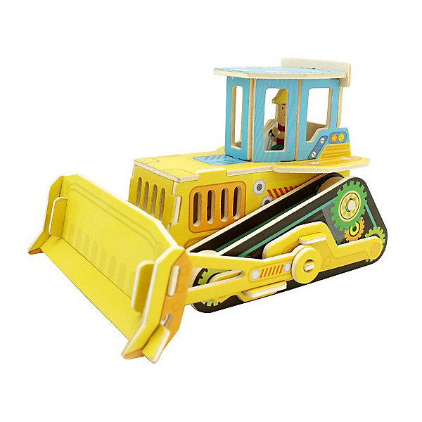 Сборная модель Robotime Бульдозер3D пазлы<br>Характеристики товара:<br><br>• возраст: от 3 лет;<br>• материал: дерево;<br>• в комплекте: 35 деталей, инструкция;<br>• размер упаковки: 30х22х1 см;<br>• вес упаковки: 420 гр.;<br>• страна производитель: Китай.<br><br>Сборная модель Robotime (Роботайм) Бульдозер -  это занимательное хобби, в котором ребенок сможет не только сам собрать бульдозер, но и раскрасить темперными красками, попробовав себя в роли дизайнера. <br><br>Помимо творческого мышления, сборка поможет развить логику, внимательность и усидчивость.<br><br>Модель входит в серию «Строительная техника» Robotime (Роботайм) с бумажным покрытием. Собрав всю серию ребенок познакомится с детальными копиями настоящей строительной техники.<br> <br>Детали для сборки расположены на двух листах шлифованной фанеры. Сборка не требует склеивания. Однако, при желании, для того чтобы усилить устойчивость, можно проклеивать места соединения.<br><br>Сборную модель Robotime (Роботайм) Бульдозер можно купить в нашем интернет-магазине.<br>Ширина мм: 300; Глубина мм: 225; Высота мм: 6; Вес г: 420; Возраст от месяцев: 72; Возраст до месяцев: 2147483647; Пол: Унисекс; Возраст: Детский; SKU: 7379890;