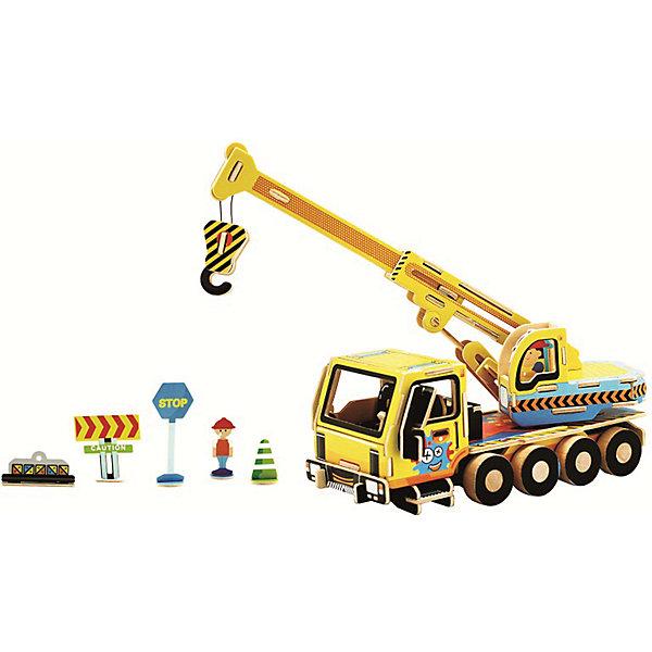 Сборная модель Robotime Кран3D пазлы<br>Характеристики товара:<br><br>• возраст: от 3 лет;<br>• материал: дерево;<br>• в комплекте: 74 деталей, инструкция;<br>• размер упаковки: 30х22х1 см;<br>• вес упаковки: 420 гр.;<br>• страна производитель: Китай.<br><br>Сборная модель Robotime (Роботайм) Кран -  это занимательное хобби, в котором ребенок сможет не только сам собрать кран, но и раскрасить темперными красками, попробовав себя в роли дизайнера. <br><br>Помимо творческого мышления, сборка поможет развить логику, внимательность и усидчивость.<br><br>Модель входит в серию «Строительная техника» Robotime (Роботайм) с бумажным покрытием. Собрав всю серию ребенок познакомится с детально копиями настоящей строительной техники.<br> <br>Детали для сборки расположены на двух листах шлифованной фанеры. Сборка не требует склеивания. Однако, при желании, для того чтобы усилить устойчивость, можно проклеивать места соединения.<br><br>Сборную модель Robotime (Роботайм) Кран можно купить в нашем интернет-магазине.<br>Ширина мм: 300; Глубина мм: 225; Высота мм: 6; Вес г: 420; Возраст от месяцев: 72; Возраст до месяцев: 2147483647; Пол: Унисекс; Возраст: Детский; SKU: 7379891;