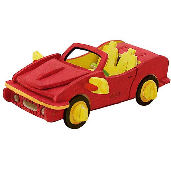 Сборная модель Robotime Гоночный автомобиль3D пазлы<br>Характеристики товара:<br><br>• возраст: от 3 лет;<br>• материал: дерево;<br>• в комплекте: 29 деталей, инструкция;<br>• размер упаковки: 23х19х1 см;<br>• вес упаковки: 250 гр.;<br>• страна производитель: Китай.<br><br>Сборная модель Robotime (Роботайм) Гоночный автомобиль -  это занимательное хобби, в котором ребенок сможет не только сам собрать маленькую копию настоящего гоночного автомобиля, но и раскрасить темперными красками, попробовав себя в роли дизайнера. <br><br>Помимо творческого мышления, сборка поможет развить логику, внимательность и усидчивость.<br><br>Модель входит в серию «Техника» Robotime (Роботайм) с бумажным покрытием. Собрав всю серию ребенок познакомится с увлекательной разнообразной техникой<br> <br>Детали для сборки расположены на одном листе шлифованной фанеры. Сборка не требует склеивания. Однако, при желании, для того чтобы усилить устойчивость, можно проклеивать места соединения.<br><br>Сборную модель Robotime (Роботайм) Гоночный автомобиль можно купить в нашем интернет-магазине.<br>Ширина мм: 230; Глубина мм: 185; Высота мм: 6; Вес г: 250; Возраст от месяцев: 36; Возраст до месяцев: 2147483647; Пол: Унисекс; Возраст: Детский; SKU: 7379897;