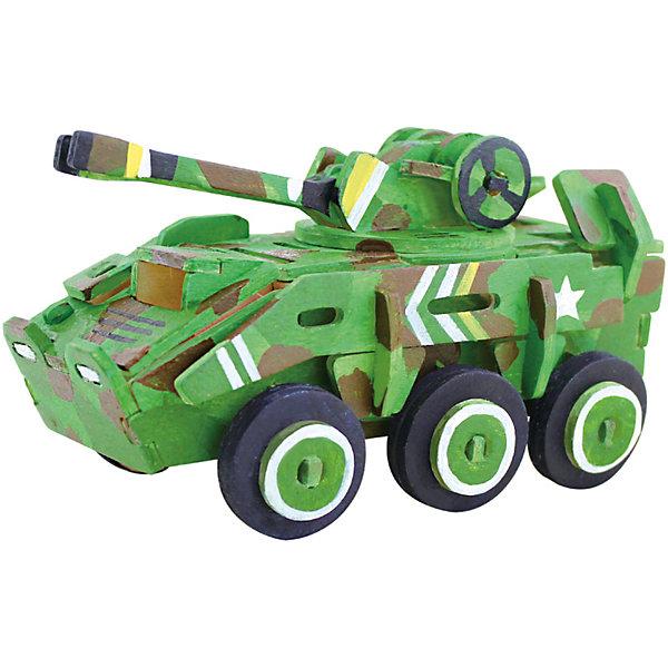 Сборная модель Robotime Бронетранпортер3D пазлы<br>Характеристики товара:<br><br>• возраст: от 3 лет;<br>• материал: дерево;<br>• в комплекте: 59 деталей, инструкция;<br>• размер упаковки: 23х19х1 см;<br>• вес упаковки: 250 гр.;<br>• страна производитель: Китай.<br><br>Сборная модель Robotime (Роботайм) Бронетранспортер -  это занимательное хобби, в котором ребенок сможет не только сам собрать маленькую копию настоящего бронетранспортера, но и раскрасить темперными красками, попробовав себя в роли дизайнера. <br><br>Помимо творческого мышления, сборка поможет развить логику, внимательность и усидчивость.<br><br>Модель входит в серию «Техника» Robotime (Роботайм) с бумажным покрытием. Собрав всю серию ребенок познакомится с увлекательной разнообразной техникой<br> <br>Детали для сборки расположены на двух листах шлифованной фанеры. Сборка не требует склеивания. Однако, при желании, для того чтобы усилить устойчивость, можно проклеивать места соединения.<br><br>Сборную модель Robotime (Роботайм) Бронетранспортер можно купить в нашем интернет-магазине.<br>Ширина мм: 230; Глубина мм: 185; Высота мм: 6; Вес г: 250; Возраст от месяцев: 36; Возраст до месяцев: 2147483647; Пол: Унисекс; Возраст: Детский; SKU: 7379901;