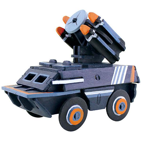 Сборная модель Robotime Зенитная установка3D пазлы<br>Характеристики товара:<br><br>• возраст: от 3 лет;<br>• материал: дерево;<br>• в комплекте: 50 деталей, инструкция;<br>• размер упаковки: 23х19х1 см;<br>• вес упаковки: 250 гр.;<br>• страна производитель: Китай.<br><br>Сборная модель Robotime (Роботайм) Зенитная установка -  это занимательное хобби, в котором ребенок сможет не только сам собрать маленькую копию настоящей зенитной установки, но и раскрасить темперными красками, попробовав себя в роли дизайнера. <br><br>Помимо творческого мышления, сборка поможет развить логику, внимательность и усидчивость.<br><br>Модель входит в серию «Техника» Robotime (Роботайм) с бумажным покрытием. Собрав всю серию ребенок познакомится с увлекательной разнообразной техникой<br> <br>Детали для сборки расположены на двух листах шлифованной фанеры. Сборка не требует склеивания. Однако, при желании, для того чтобы усилить устойчивость, можно проклеивать места соединения.<br><br>Сборную модель Robotime (Роботайм) Зенитная установка можно купить в нашем интернет-магазине.<br><br>Ширина мм: 230<br>Глубина мм: 185<br>Высота мм: 6<br>Вес г: 250<br>Возраст от месяцев: 36<br>Возраст до месяцев: 2147483647<br>Пол: Унисекс<br>Возраст: Детский<br>SKU: 7379902