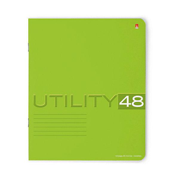 ТЕТРАДЬ 48Л. ЛИН.  UTILITY 5 ВИДОВБумажная продукция<br>Характеристики:<br><br>• количество: 1 шт.;<br>• формат: А5;<br>• внутренний блок: 48 листов, линия, с полями;<br>• обложка: итальянский картон тонированный в массе;<br>• плотность картона: 220 гр./кв.м.;<br>• плотность бумаги: 60 гр./кв.м.;<br>• тип крепления: скрепка;<br>• обложка в ассортименте.<br><br>Utility от компании «Альт» — линейка тетрадей в линию в лаконичном стиле. Качественные бумажные листы с красными полями соответствуют школьным стандартам письма. Чернила отлично впитываются и практически не размазываются по бумаге.<br><br>Обложка выполнена из дизайнерского итальянского картона выкрашенного в массе, а это значит, что краска с картона не сойдет ни при каких условиях. Лицевая сторона декорирована рельефным тиснением. Цвет обложки может отличаться от представленного на фото.<br><br>Тетрадь 48 л. лин. «Utility» 5 видов можно купить в нашем интернет-магазине.<br><br>Ширина мм: 204<br>Глубина мм: 164<br>Высота мм: 30<br>Вес г: 580<br>Возраст от месяцев: 60<br>Возраст до месяцев: 2147483647<br>Пол: Унисекс<br>Возраст: Детский<br>SKU: 7379987