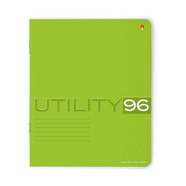 ТЕТРАДЬ 96Л.  UTILITY 5 ВИДОВ линейкаБумажная продукция<br>Характеристики:<br><br>• количество: 1 шт.;<br>• формат: А5;<br>• внутренний блок: 96 листов, линия, с полями;<br>• обложка: итальянский картон тонированный в массе;<br>• плотность картона: 220 гр./кв.м.;<br>• плотность бумаги: 60 гр./кв.м.;<br>• тип крепления: скрепка;<br>• обложка в ассортименте.<br><br>Utility от компании «Альт» — линейка тетрадей в линию в лаконичном стиле. Качественные бумажные листы с красными полями соответствуют школьным стандартам письма. Чернила отлично впитываются и практически не размазываются по бумаге.<br><br>Обложка выполнена из дизайнерского итальянского картона выкрашенного в массе, а это значит, что краска с картона не сойдет ни при каких условиях. Лицевая сторона декорирована рельефным тиснением. Цвет обложки может отличаться от представленного на фото.<br><br>Тетрадь 96 л. «Utility» линейка 5 видов можно купить в нашем интернет-магазине.<br>Ширина мм: 205; Глубина мм: 165; Высота мм: 45; Вес г: 195; Возраст от месяцев: 60; Возраст до месяцев: 2147483647; Пол: Унисекс; Возраст: Детский; SKU: 7380024;