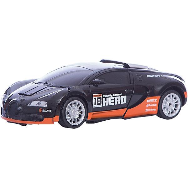 Радиоуправляемый робот-трансформер 1Toy Трансботы Спорткар, черно-оранжевыйРоботы-игрушки<br>Характеристики товара:<br><br>• возраст: от 5 лет;<br>• материал: пластик;<br>• в комплекте: робот, пульт управления, аккумулятор, USB шнур;<br>• тип батареек: 2 батарейки АА;<br>• наличие батареек: в комплект не входят;<br>• размер упаковки: 33х30х22 см;<br>• вес упаковки: 1,5 кг;<br>• страна производитель: Китай.<br><br>Робот-трансформер «Трансботы» 1toy оранжевый — увлекательная игрушка, способная трансформироваться в спортивный автомобиль. Трансформация происходит легко и быстро и не вызовет у ребенка трудностей. <br><br>Машинка управляется пультом управления и может ездить в разных направлениях: вперед, назад, поворачивать. Машинка оснащена световыми и звуковыми эффектами, что делает игру еще интересней. Игрушка выполнена из качественных прочных материалов.<br><br>Робота-трансформера «Трансботы» 1toy оранжевого можно приобрести в нашем интернет-магазине.<br><br>Ширина мм: 310<br>Глубина мм: 220<br>Высота мм: 320<br>Вес г: 1500<br>Возраст от месяцев: 36<br>Возраст до месяцев: 2147483647<br>Пол: Унисекс<br>Возраст: Детский<br>SKU: 7410323