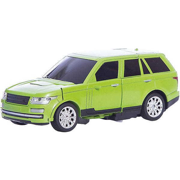 Радиоуправляемый робот-трансформер 1Toy Трансботы Джип, зеленыйДругие радиуправляемые игрушки<br>Характеристики товара:<br><br>• возраст: от 5 лет;<br>• материал: пластик;<br>• в комплекте: робот, пульт управления, аккумулятор, USB шнур;<br>• тип батареек: 2 батарейки АА;<br>• наличие батареек: в комплект не входят;<br>• размер упаковки: 25х24х18 см;<br>• вес упаковки: 1 кг;<br>• страна производитель: Китай.<br><br>Робот-трансформер «Трансботы» 1toy зеленый — увлекательная игрушка, способная трансформироваться в джип. Трансформация происходит легко и быстро и не вызовет у ребенка трудностей. <br><br>Машинка управляется пультом управления и может ездить в разных направлениях: вперед, назад, поворачивать. Машинка оснащена световыми и звуковыми эффектами, что делает игру еще интересней. Игрушка выполнена из качественных прочных материалов.<br><br>Робота-трансформера «Трансботы» 1toy зеленого можно приобрести в нашем интернет-магазине.<br><br>Ширина мм: 240<br>Глубина мм: 180<br>Высота мм: 250<br>Вес г: 1000<br>Возраст от месяцев: 36<br>Возраст до месяцев: 2147483647<br>Пол: Унисекс<br>Возраст: Детский<br>SKU: 7410325