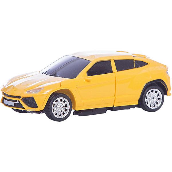 Радиоуправляемый робот-трансформер 1Toy Трансботы Машина, желтыйДругие радиуправляемые игрушки<br>Характеристики товара:<br><br>• возраст: от 5 лет;<br>• материал: пластик;<br>• в комплекте: робот, пульт управления, аккумулятор, USB шнур;<br>• тип батареек: 2 батарейки АА;<br>• наличие батареек: в комплект не входят;<br>• размер упаковки: 30х33х22 см;<br>• вес упаковки: 1 кг;<br>• страна производитель: Китай.<br><br>Робот-трансформер «Трансботы» 1toy желтый — увлекательная игрушка, способная трансформироваться в легковой автомобиль. Трансформация происходит легко и быстро и не вызовет у ребенка трудностей. <br><br>Машинка управляется пультом управления и может ездить в разных направлениях: вперед, назад, поворачивать. Машинка оснащена световыми и звуковыми эффектами, что делает игру еще интересней. Игрушка выполнена из качественных прочных материалов.<br><br>Робота-трансформера «Трансботы» 1toy желтого можно приобрести в нашем интернет-магазине.<br><br>Ширина мм: 300<br>Глубина мм: 220<br>Высота мм: 330<br>Вес г: 1000<br>Возраст от месяцев: 36<br>Возраст до месяцев: 2147483647<br>Пол: Унисекс<br>Возраст: Детский<br>SKU: 7410327