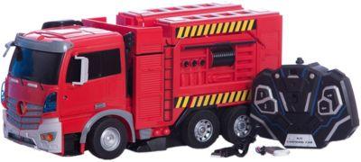 Радиоуправляемый робот-трансформер 1Toy Трансботы Пожарная машина