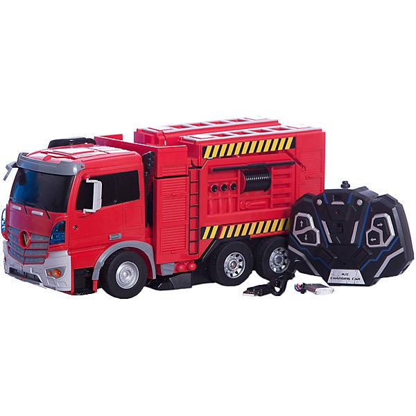 Радиоуправляемый робот-трансформер 1Toy Трансботы Пожарная машинаДругие радиуправляемые игрушки<br>Характеристики товара:<br><br>• возраст: от 5 лет;<br>• материал: пластик;<br>• в комплекте: робот, пульт управления, аккумулятор, USB шнур;<br>• тип батареек: 2 батарейки АА;<br>• наличие батареек: в комплект не входят;<br>• размер машины: 38 см;<br>• размер упаковки: 49х23х20 см;<br>• вес упаковки: 1,983 кг;<br>• страна производитель: Китай.<br><br>Робот-трансформер 1toy — увлекательная игрушка, способная трансформироваться в пожарную машину. Трансформация происходит легко и быстро и не вызовет у ребенка трудностей. <br><br>Машинка управляется пультом управления и может ездить в разных направлениях: вперед, назад, поворачивать. Машинка оснащена световыми и звуковыми эффектами, что делает игру еще интересней. Игрушка выполнена из качественных прочных материалов.<br><br>Робота-трансформера 1toy можно приобрести в нашем интернет-магазине.<br><br>Ширина мм: 490<br>Глубина мм: 200<br>Высота мм: 230<br>Вес г: 1983<br>Возраст от месяцев: 36<br>Возраст до месяцев: 2147483647<br>Пол: Унисекс<br>Возраст: Детский<br>SKU: 7410330