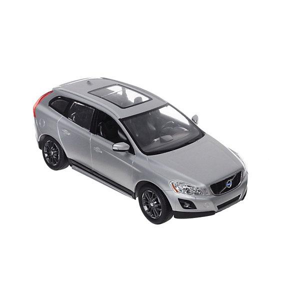 Радиоуправляемая машинка Rastar Volvo XC60 1:14, сераяРадиоуправляемые машины<br>Характеристики:<br><br>• возраст: от 3 лет<br>• комплектация: машина Volvo XC60, пульт управления<br>• материал: пластик, элементы из металла, резина<br>• размер машины: 33х15,3х12,1 см.<br>• масштаб 1:14<br>• максимальная скорость: 12 км/ч.<br>• дальность действия пульта: 15 - 45 м.<br>• время зарядки: 4 – 5 часов<br>• частота управления: 27 MHz<br>• батарейки: 5 типа AA/LR6 1.5V (пальчиковые), 1 типа «Крона» 9V<br>• наличие батареек: не входят в комплект<br>• упаковка: картонная коробка блистерного типа<br>• размер упаковки: 45,5x21,5x19,5 см.<br><br>Радиоуправляемая машина от компании Rastar представляет собой уменьшенную копию настоящего автомобиля Volvo XC60. Модель автомобиля обладает неповторимым провокационным стилем и спортивным характером. А серьезные габариты придают реалистичность в управлении.<br><br>Машина отличается потрясающей маневренностью, динамикой и покладистостью. Играть с ней очень легко и весело: специальной формы пульт удобно ложится в ладонь, а назначения всех кнопок интуитивно понятны. Машина может двигаться вперед, назад, вправо и влево, совершая повороты и развороты, при движении назад у нее загораются стоп-сигналы, при движении вперед — горят фары.<br><br>Машину volvo xc60, 1:14, р/у, RASTAR , серебристую можно купить в нашем интернет-магазине.<br><br>Ширина мм: 210<br>Глубина мм: 460<br>Высота мм: 200<br>Вес г: 1630<br>Возраст от месяцев: 36<br>Возраст до месяцев: 2147483647<br>Пол: Мужской<br>Возраст: Детский<br>SKU: 7410500