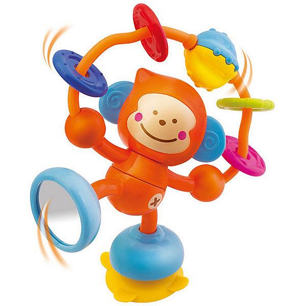 Развивающая игрушка Bkids Веселая обезьянкаИгрушки для новорожденных<br>Характеристики:<br><br>• возраст: от 6 месяцев<br>• материал: пластик, ПВХ (поливинилхлорид) <br>• особенности: не содержит Бисфенол A<br>• упаковка: картонная коробка открытого типа<br>• размер упаковки: 17,8х7,6х20,3 см.<br>• вес: 215 гр.<br><br>Оригинальная развивающая игрушка «Веселая обезьянка» поможет скрасить досуг малыша не только дома, но и в дороге. На левой ноге мартышке предусмотрена специальная присоска, которая позволяет крепить игрушку к любой гладкой поверхности, будь то стол в детской, столик коляски или даже окно автомобиля.<br><br>У обезьянки есть дуга с четырьмя подвижными прорезывателями: их можно перемещать или грызть, а также безопасное зеркальце на правой ноге, чтобы малыш мог рассматривать себя самостоятельно.<br><br>Развивающую игрушку, Bkids (БиКидс)можно купить в нашем интернет-магазине.<br>Ширина мм: 17; Глубина мм: 7; Высота мм: 20; Вес г: 215; Возраст от месяцев: 6; Возраст до месяцев: 2147483647; Пол: Унисекс; Возраст: Детский; SKU: 7411063;