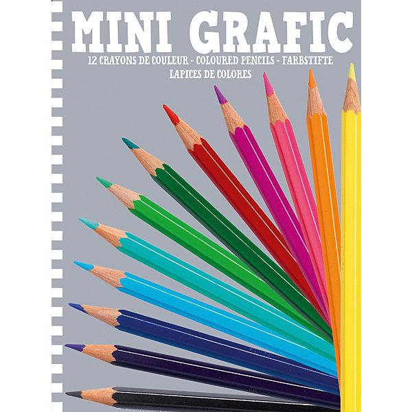 Карандаши цветные, 12 штук, DjecoЦветные<br>Цветные карандаши от французского производителя Djeco (Джеко) - превосходный набор для каждого творческого ребенка! В наборе вы найдёте 12 ярких карандашей удобной формы. Красивые цвета и великолепное европейское качество приведут в восторг не только начинающих художников, но и опытных ценителей искусства. Краски не выцветают и сохраняют насыщенность цвета в течение долгого времени. В наборе 12 разноцветных карандашей. Набор продается в яркой подарочной коробке. Все детали набора совершенно безопасны для детей и изготовлены из высококачественного дерева. Набор станет превосходным подарком для каждого ребенка, заинтересовавшегося процессом творчества. В процессе рисования у ребенка будет замечательно развиваться фантазия и воображение, творческие способности.<br>Ширина мм: 13; Глубина мм: 115; Высота мм: 154; Вес г: 75; Возраст от месяцев: 36; Возраст до месяцев: 2147483647; Пол: Унисекс; Возраст: Детский; SKU: 7414620;