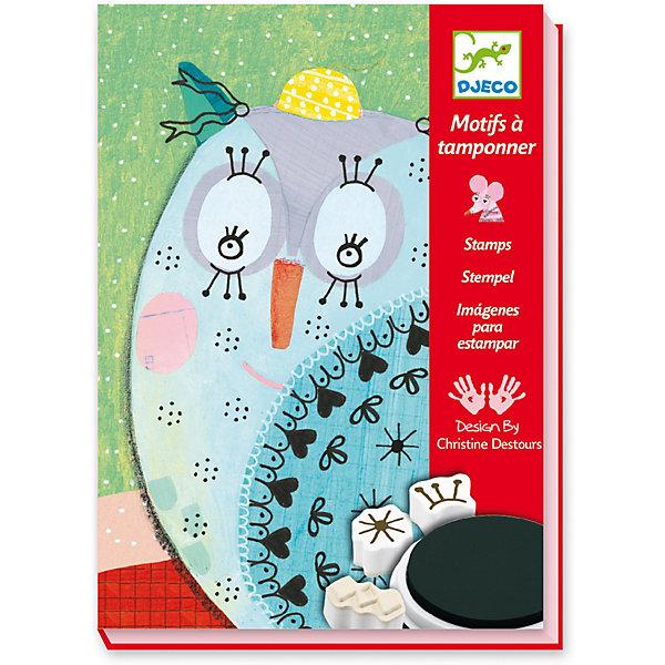 Набор штампов Милые животные, DjecoДетские печати и штампы<br>Набор для творчества с использованием техники рисования штампами. Используя штампы различных форм с разнообразными рисунками и яркие картинки с нарисованными фонами, ваш ребенок сможет создать забавных зверьков. Картинки получаются действительно невероятно милыми и забавными, их можно дарить и в качестве открыток. Ребенок может следовать инструкции, а может проявить фантазию, и сотворить что-то свое, непохожее на других. В комплекте: - 20 карточек, - 15 штампов, - 3 штемпельные подушечки. Размер упаковки: 16,5 х 23 х 4 см.<br>Ширина мм: 230; Глубина мм: 170; Высота мм: 40; Вес г: 530; Возраст от месяцев: 36; Возраст до месяцев: 2147483647; Пол: Унисекс; Возраст: Детский; SKU: 7414656;