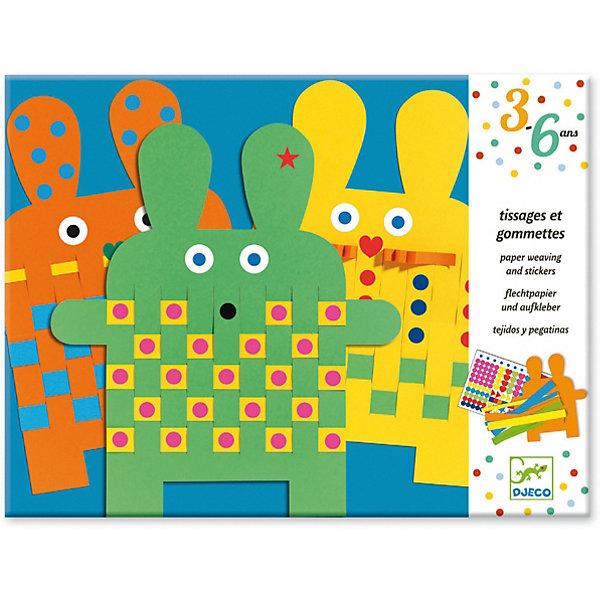 Набор Зайка, DjecoБумага<br>При помощи разноцветных наклеек в виде квадратов, прямоугольников, треугольников, звездочек, сердечек ребенок будет украшать вырезанных из цветной бумаги зайцев. Набор для творчества с наклейками Зайцы – это творческое занятие и забавная игра одновременно. Набор способствует развитию творческих навыков, усидчивости и аккуратности. В комплекте: 6бумажных вырезанных зайцы, 394 наклейки. Размер упаковки: 31,5 х 24 см.<br>Ширина мм: 240; Глубина мм: 320; Высота мм: 10; Вес г: 280; Возраст от месяцев: 36; Возраст до месяцев: 2147483647; Пол: Унисекс; Возраст: Детский; SKU: 7414670;