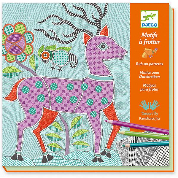 Набор для творчества Митила, DjecoНаборы для раскрашивания<br>Набор для творчества Митила от компании Djeco - превосходный подарок для каждого творческого ребенка, с помощью которого он сможет самостоятельно создать необычные картины. Набор состоит из 4 картинок с изображениями сказочных лесных животных. Отдельные части картинок нужно заполнить цветом, разместив предварительно под картинкой лист с узорами. Раскрашивая картинку ребенок увидит, как красивые необычные изображения узоров переносятся на основную картинку. В наборе: - 4 картинки размером 20 х 20 см, - 12 листов с узорами размером 10 х 10 см, - 5 карандашей. Наборы для творчества с раскрасками способствуют развитию творческих способностей и воображения ребенка, учат его внимательности и усидчивости. Набор продается в красочной подарочной упаковке. Французская компания Джеко производит развивающие игрушки и игры для детей, а также наборы для творчества и детали интерьера детской комнаты. Все товары Джеко отличаются высочайшим качеством, необычной идеей исполнения. Изображения и дизайн специально разрабатываются молодыми французскими художниками.<br><br>Ширина мм: 50<br>Глубина мм: 240<br>Высота мм: 230<br>Вес г: 520<br>Возраст от месяцев: 36<br>Возраст до месяцев: 2147483647<br>Пол: Унисекс<br>Возраст: Детский<br>SKU: 7414676