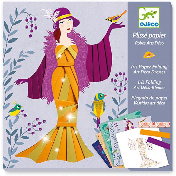 Купить Набор для творчества Бумажный декор Платья, Djeco, Франция, Унисекс