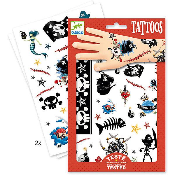 Татуировки Пираты, DjecoПереводные тату<br>Детские татуировки для ребенка Пираты от французской компании Djeco придутся по душе маленьким модникам и сделают их образ необычным и интересным. Татуировки легко приклеиваются и отклеиваются с кожи ребенка, как наклейки. Они дерматологически протестированы и безопасны для ребенка, не раздражают кожу. В комплекте: 2 листа с татуировками в виде отважных пиратов и различных пиратских символов. Украшение себя яркими татуировками станет отличным развлечением для детской вечеринки или веселой игры с друзьями.  Набор продается в подарочной упаковке. У нас вы можете купить татуировки для ребенка Пираты от французской компании Djeco (Джеко) по самой привлекательной цене с доставкой по всей России.<br>Ширина мм: 1; Глубина мм: 145; Высота мм: 230; Вес г: 39; Возраст от месяцев: 36; Возраст до месяцев: 2147483647; Пол: Унисекс; Возраст: Детский; SKU: 7414703;