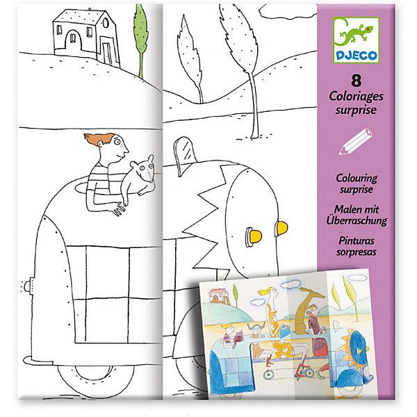 Набор для творчества Прятки, DjecoНаборы для раскрашивания<br>Набор для творчества Прятки от французского бренда Djeco - необычный набор для раскрашивания, с которым ребенок сможет даже поиграть! Раскраска подарит детям радость самовыражения, поможет развивать усидчивость, воображение, мелкую моторику, цветовосприятие и творческое мышление. Дизайнеры фирмы DJECO придумали очень необычные раскраски. На картинках есть небольшие изломы, раздвигая которые сюжет картинки будет меняться. Малышу понравится раскрашивать необычные картинки, а потом наблюдать за изменениями историй главных героев, изображенных на них. Раскрашивать картинки можно как карандашами, так и фломастерами и пастелью. В наборе для детского творчества: 4 листа раскрасок. Наборы для детского творчества развивают фантазию, воображение и творческие способности ребенка, учат его внимательности и усидчивости. Набор продается в красочной подарочной упаковке. Французская компания Джеко производит развивающие игрушки и игры для детей, а также наборы для творчества и детали интерьера детской комнаты. Все товары Джеко отличаются высочайшим качеством, необычной идеей исполнения. Изображения и дизайн специально разрабатываются молодыми французскими художниками.<br>Ширина мм: 230; Глубина мм: 220; Высота мм: 10; Вес г: 160; Возраст от месяцев: 36; Возраст до месяцев: 2147483647; Пол: Унисекс; Возраст: Детский; SKU: 7414708;
