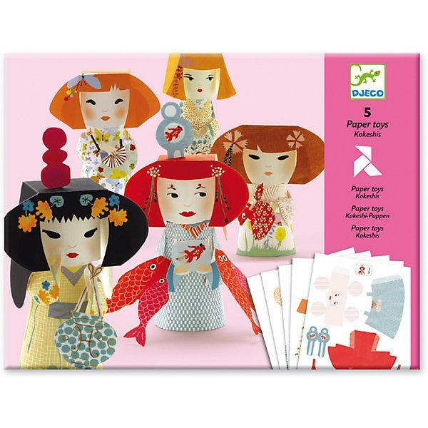 Волшебная бумага «Девушки», DjecoНаборы для оригами<br>Волшебная бумага Девушки – яркий и необычный набор для творчества от французской фирмы Djeco. Теперь каждая девочка буквально за несколько минут может самостоятельно без помощи ножниц создать оригинальные фигурки японских девушек. Из плоских изображений очень легко и быстро можно сделать 5 объемныx фигур, которые станут украшением любой комнаты. Наборы Djeco отличаются высоким качеством материалов, безопасны для здоровья ребенка. Все элементы имеют стильное и оригинальное исполнение, с ними всегда приятно играть. Работа с волшебной бумагой развивает мелкую моторику рук, творческое мышление, формирует усидчивость и целеустремленность у детей. В наборе: - 5 листов с изображениями, - иллюстрированная инструкция со схемами сборки. Чтобы получить фигурку куклы, необходимо надавив, отсоединить элементы от листов. По инструкции сложить детали и соединить их части в куколку. Купить Волшебную бумагу Девушки от Djeco можно в нашем интернет магазине с доставкой в удобное для Вас время!<br>Ширина мм: 320; Глубина мм: 240; Высота мм: 10; Вес г: 190; Возраст от месяцев: 36; Возраст до месяцев: 2147483647; Пол: Унисекс; Возраст: Детский; SKU: 7414716;