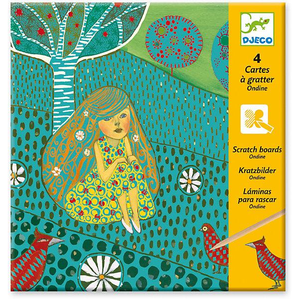 Набор для творчества «Русалки», DjecoГравюры для детей<br>Набор Русалки от французского производителя Djeco - необычный набор для детского творчества с удивительным сюрпризом. Используя обыкновенную деревянную палочку, ребенок царапает по картинке, и постепенно начинают проявляться штриховки и узоры. Каждая картинка имеет слои, которые нужно будет стирать палочкой, получая спрятанное за ними изображение. Легко и просто, как по волшебству, получаются красивые картинки, изображающие волшебных русалок в сказочных пейзажах. В комплекте: - 4 картинки, - деревянный стек, - подробная инструкция. Размер каждой картинки 21х15 см. Набор продается в красочной подарочной коробке. Наборы для детского творчества развивают фантазию, воображение и творческие способности ребенка, учат его внимательности и усидчивости. Французская компания Джеко производит развивающие игрушки и игры для детей, а также наборы для творчества и детали интерьера детской комнаты. Все товары Джеко отличаются высочайшим качеством, необычной идеей исполнения. Изображения и дизайн специально разрабатываются молодыми французскими художниками.<br>Ширина мм: 230; Глубина мм: 220; Высота мм: 10; Вес г: 120; Возраст от месяцев: 36; Возраст до месяцев: 2147483647; Пол: Унисекс; Возраст: Детский; SKU: 7414722;