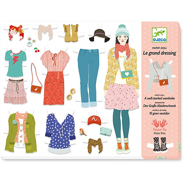 Набор для игры Примерка, DjecoБумага<br>Увлекательный набор с бумажными куколками и нарядами – прекрасный подарок для каждого творческого ребенка! В составе набора Примерка вы найдете бумажные фигуры девочек и различные наряды, с помощью которых нужно одеть очаровательных модниц. Наборы для творчества от Djeco развивают у ребенка фантазию и творческие способности, учат малыша внимательности и усидчивости. Все изображения созданы современными французскими художниками. В составе набора: - 3 бумажные куколки, - 8 пиджаков, - 21 брюки, - 8 блузок, - 7 джемперов, - 29 пар обуви и аксессуаров.<br>Ширина мм: 30; Глубина мм: 320; Высота мм: 240; Вес г: 670; Возраст от месяцев: 36; Возраст до месяцев: 2147483647; Пол: Унисекс; Возраст: Детский; SKU: 7414735;