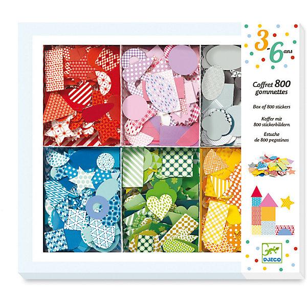 Набор для аппликации, DjecoБумага<br>Превосходный набор для аппликации от французского производителя Djeco поможет раскрыть творческий потенциал вашего ребенка! Интересный творческий набор для маленьких любителей аппликации. Большая коробка содержит целых 800 наклеек, рассортированных по цвету, что делает набор удобным для хранения и использования. Большой выбор цветов, форм и рисунка наклеек позволяет подобрать множество комбинаций и стимулирует творческое мышление ребенка. Набор продается в красивой подарочной коробке. Все детали набора выполнены аккуратно и качественно и безопасны для детей. Купить набор для аппликации Djeco в нашем интернет магазине вы можете уже сегодня, с доставкой в удобное для вас время в Москву, Санкт-Петербург и другие регионы России.<br><br>Ширина мм: 27<br>Глубина мм: 229<br>Высота мм: 204<br>Вес г: 287<br>Возраст от месяцев: 36<br>Возраст до месяцев: 2147483647<br>Пол: Унисекс<br>Возраст: Детский<br>SKU: 7414749