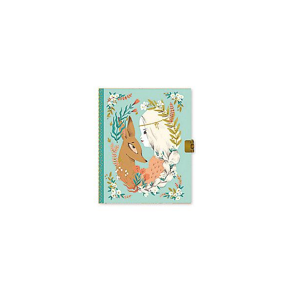 Блокнот с замочком Люсиль, DjecoБумажная продукция<br>Блокнот с замочком Люсиль из новой серии канцелярских товаров Lovely Paper от французского бренда Djeco непременно понравится и пригодится каждой девочке. <br><br>Блокнот имеет 92 линованные страницы, на обложке изображена красивая девушка с милым олененком, а на каждой странице сверху небольшая картинка кролика. Переплет блокнота выполнен с фольгированным эффектом, что делает его еще привлекательнее. <br><br>Закрывается блокнот на замочек, поэтому девочка сможет записывать в него свои сокровенные секреты и мечты, не боясь, что их кто-то прочитает.  А также блокнот подойдет для учебных заметок. <br><br>В комплекте:<br><br>блокнот,<br>замочек,<br>2 ключа.<br>Серия детских канцелярских товаров Lovely Paper включает в себя красочные блокноты, открытки, пеналы, фломастеры и карандаши, цветной скотч, стикеры для записок и другие аксессуары. Изображения на изделиях выполнены в свойственном для Djeco необычном и запоминающемся стиле. Все товары прекрасно сочетаются друг с другом.<br><br>Ширина мм: 50<br>Глубина мм: 170<br>Высота мм: 220<br>Вес г: 380<br>Возраст от месяцев: 36<br>Возраст до месяцев: 2147483647<br>Пол: Унисекс<br>Возраст: Детский<br>SKU: 7414755