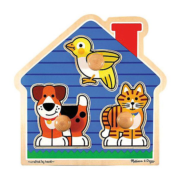 Рамка-вкладыш Melissa &amp; Doug Домик с животными, Первые фигурыРамки-вкладыши<br>Характеристики товара:<br><br>• возраст: от 1 года;<br>• материал: дерево;<br>• в комплекте: 3 элемента;<br>• размер упаковки: 29х4х29 см;<br>• вес упаковки: 771 гр.;<br>• страна производитель: Китай.<br><br>Рамка-вкладыш Melissa &amp; Doug (Мелисса и Даг) Домик с животными - это увлекательный и познавательный пазл для самых маленьких. Он познакомит ребенка с формами, поможет развить мелкую моторику и усидчивость.<br><br>На деревянной рамке изображен красочный домик, в котором живут животные. Все вкладыши имеют деревянную ручку, чтобы малыш с легкостью смог перемещать и вставлять в необходимое место.<br> <br>Melissa &amp; Doug является одним из ведущих брендов деревянных игрушек, для производства которых используется высококачественная обработанная древесина и нетоксичные красители.<br><br>Рамка-вкладыш Melissa &amp; Doug (Мелисса и Даг) Домик с животными можно купить в нашем интернет-магазине.<br>Ширина мм: 290; Глубина мм: 40; Высота мм: 290; Вес г: 771; Возраст от месяцев: 12; Возраст до месяцев: 2147483647; Пол: Унисекс; Возраст: Детский; SKU: 7416009;